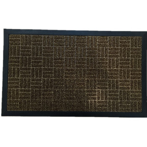 Waterproof coir with anti slip rubber backing coco door mat