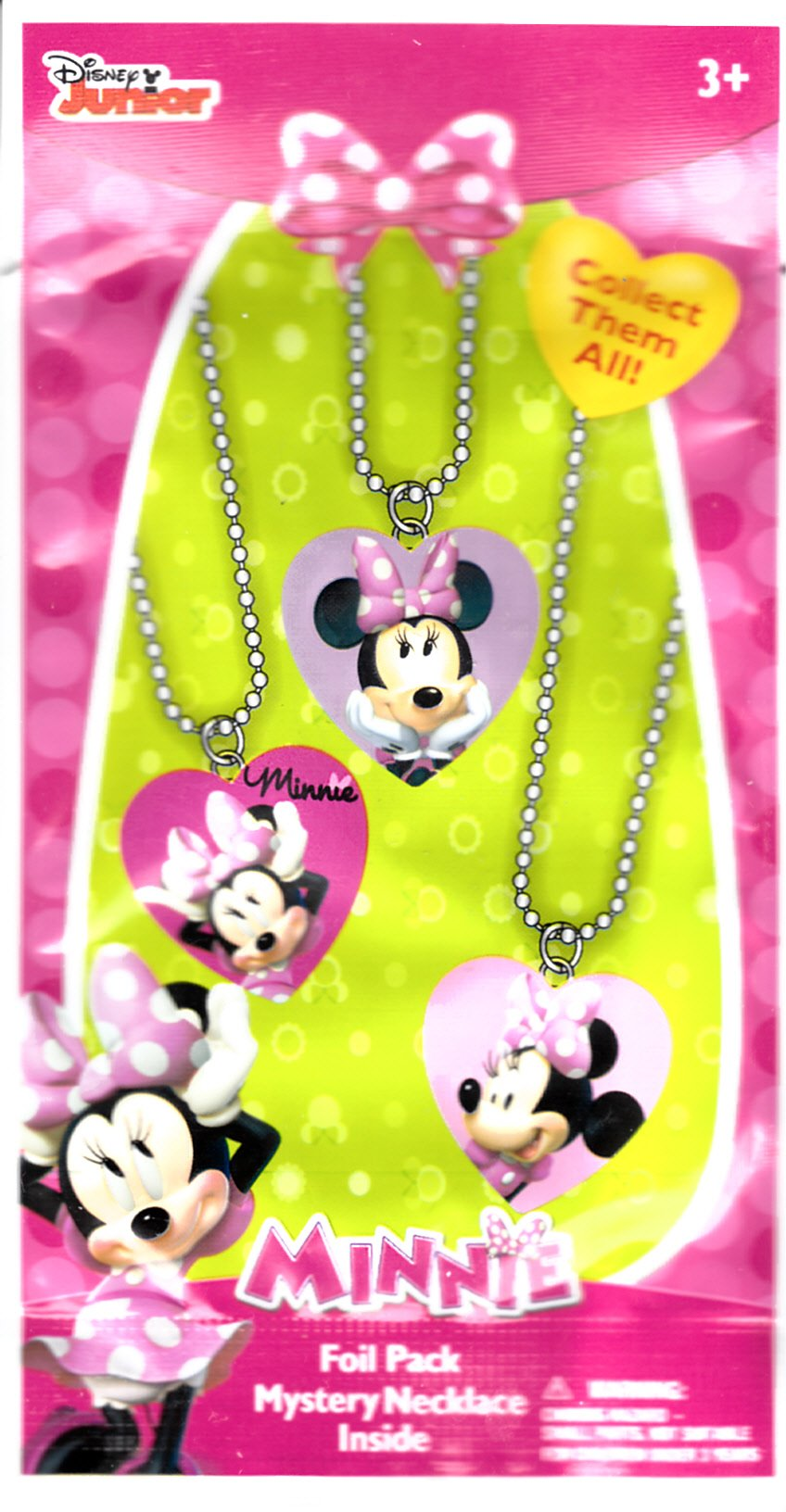 Disney Junior Minnie Mouse Mystery Necklace Blind Foil Pack