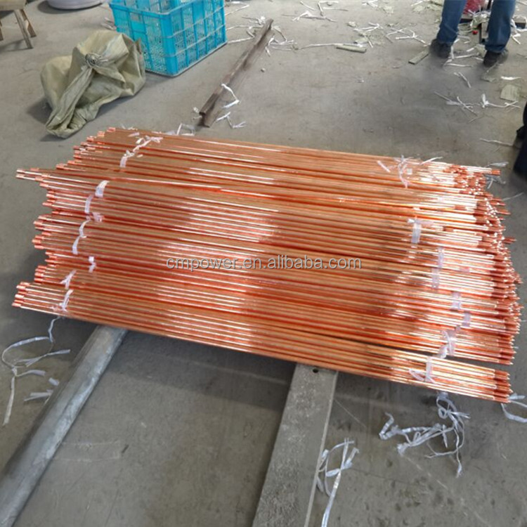 Lightning rod low prices round 8mm copper clad steel ground rod