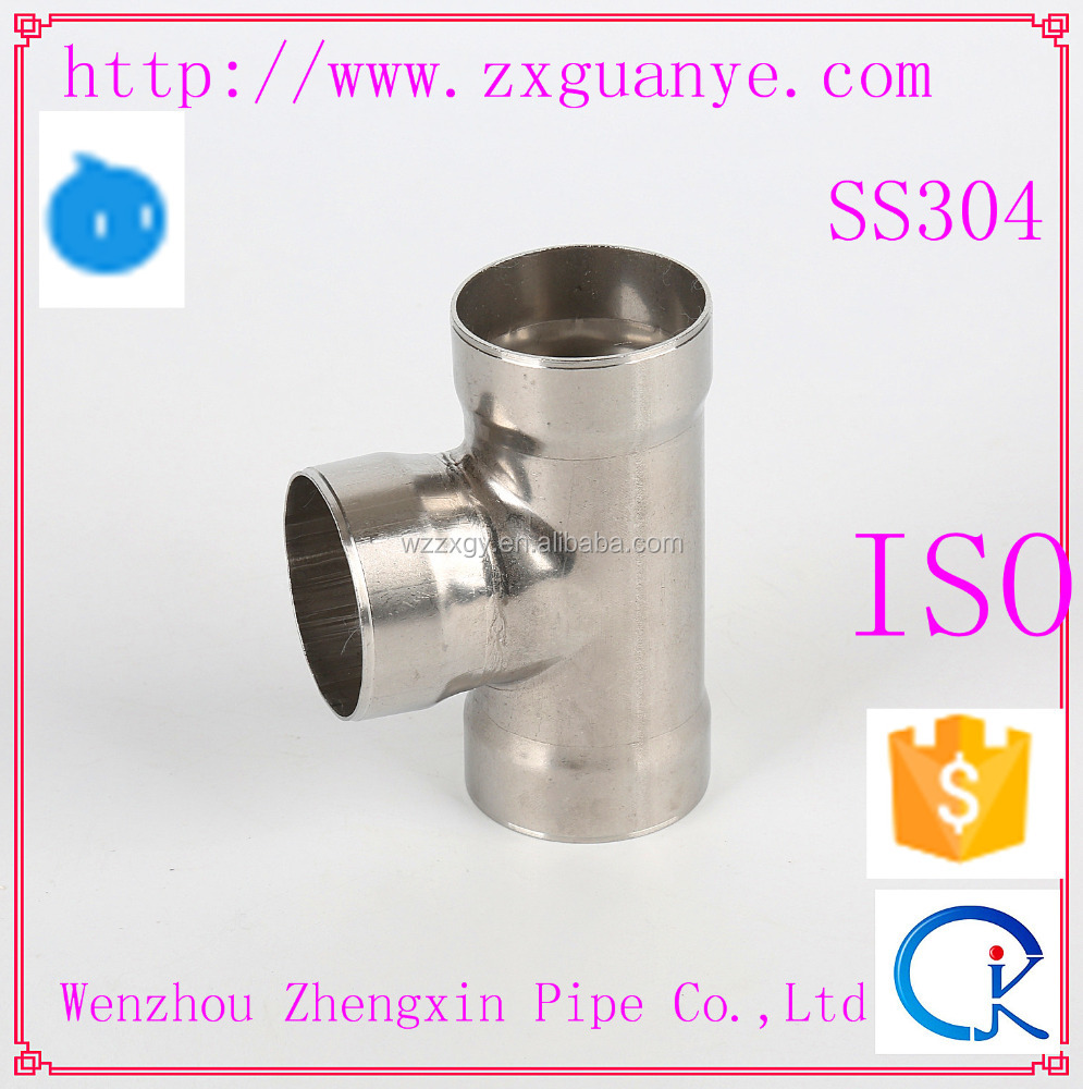 SS Socket Weld Equal Tee Pipe Press Fitting