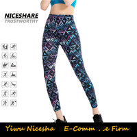 Most popular wholesale sexy patterned design sport woman yoga leggings