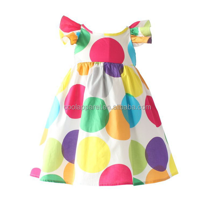 cheap childrens boutique clothing colorful pakistani school girl printed summer girl dress cotton frock design