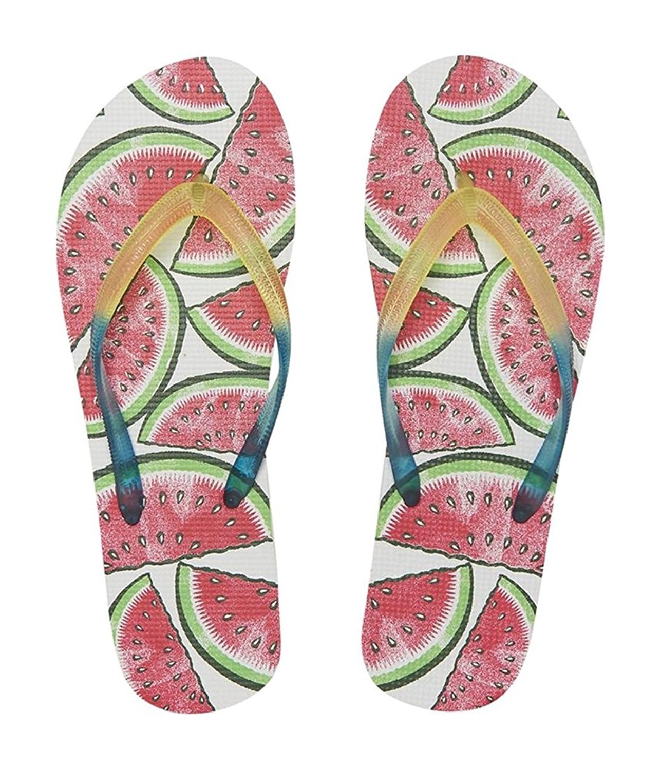 bc2fc5666553 Get Quotations · Aeropostale Womens Watermelon Flip Flop Sandals 768 9