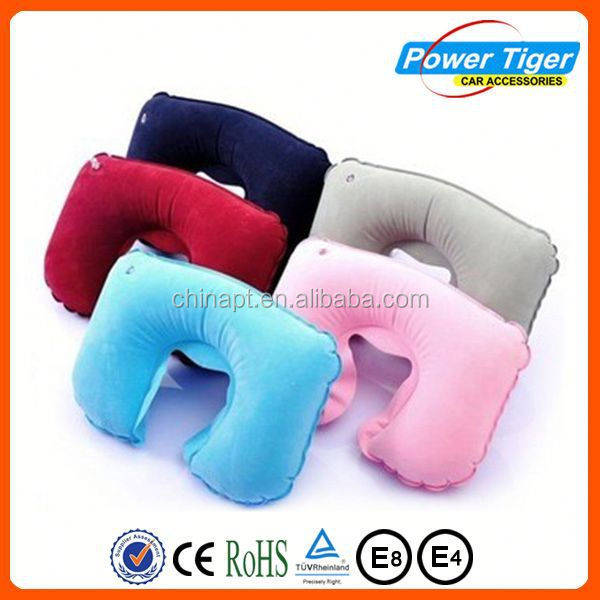 pvc flocking air neck pillow i love you hold pillow