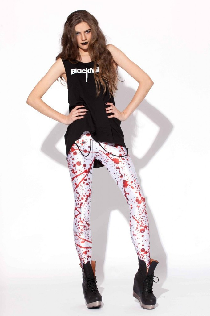 58368b37cad9 Get Quotations · 2015 hot sale new fashion Leggings BLACK Milk splash Blood  Star Leggings top quality summer style