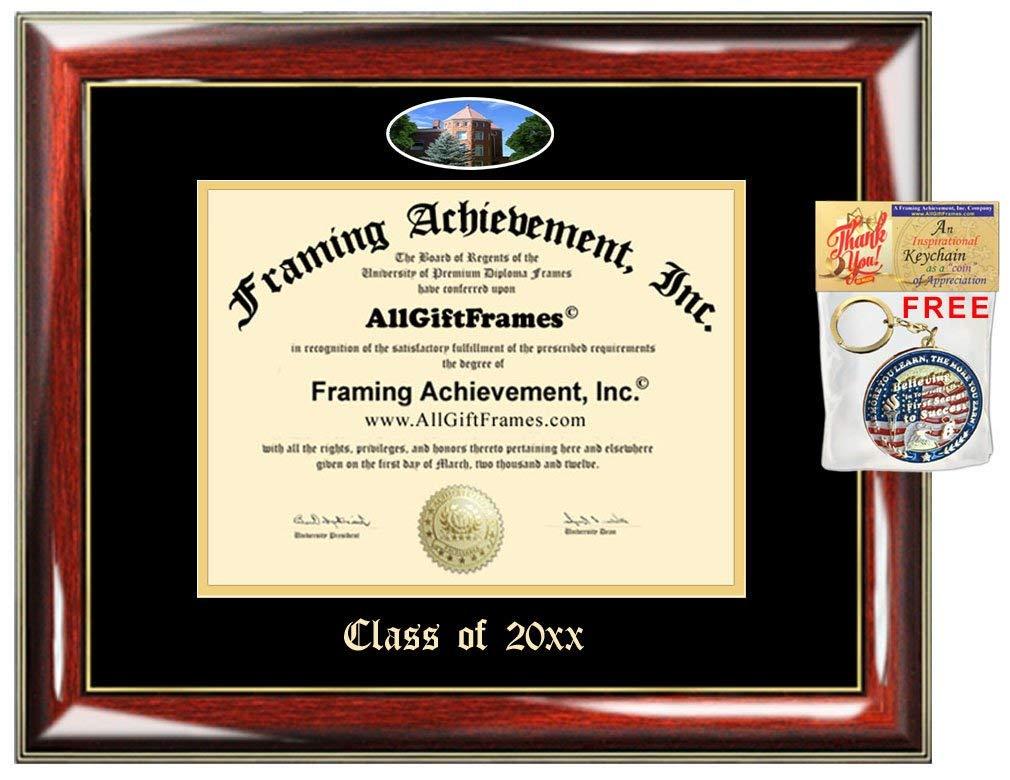 Custom Diploma Frame Embossed NAU College Best Graduation Degree Frame Double Mat Campus Fisheye Picture Frame Northern Arizona University Cheap Degree Graduate Gift