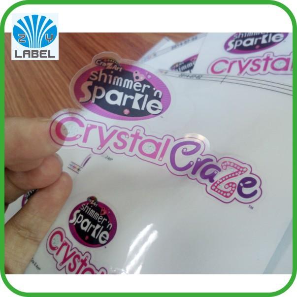 Permanent Adhesive Vinyl Bike Logo Sticker Waterproof
