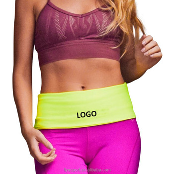 2018 new design high quality elastic waist bag for running ,yoga,fitness