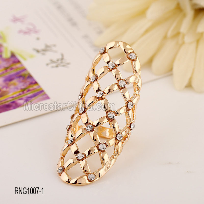 Hot French Personalized Hollow Cuff Diamond Women Beautiful Gold