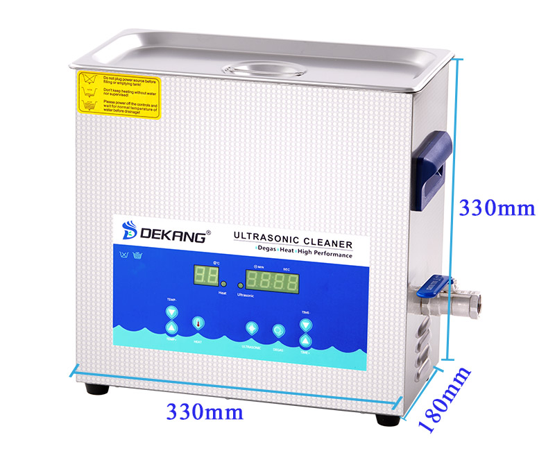 6L Digital 28khz 40khz ultrasonic cleaner with degas mode for electrical parts PCB board cleaning