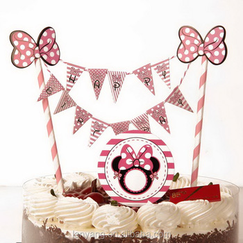 Mini Happy Birthday Cake Bunting Banner Topper