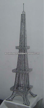 Decorative Crystal Eiffel Tower/ Home Decor/ Table Top For Home/ Hotel/  Office