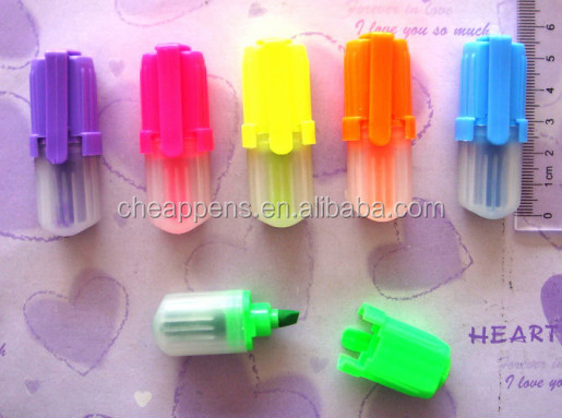 wenzhou factory cute promotional gift  highlighter marker pen