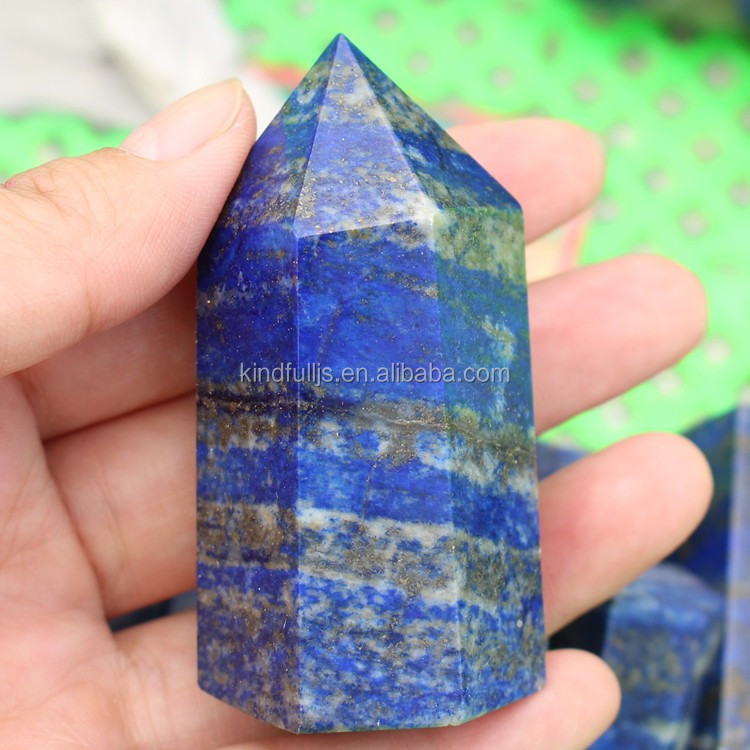 Natural Lapis Lazuli Crystal Stones Wand Point For Sale