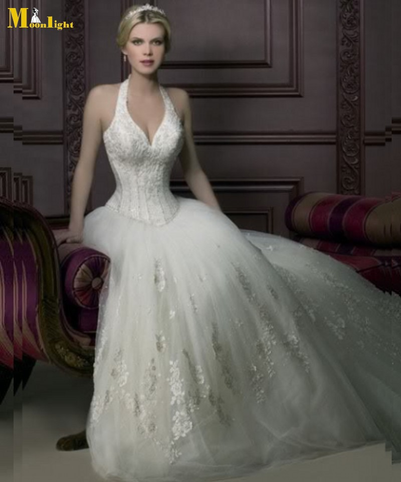 Wedding Gown Bustier: Wedding Dresses YW032 Free Shipping Affordable Sexy Halter
