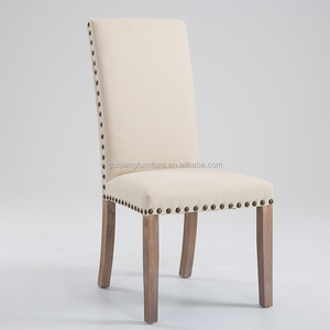 Modern Luxury Wood Studs Restaurant Dining Chair