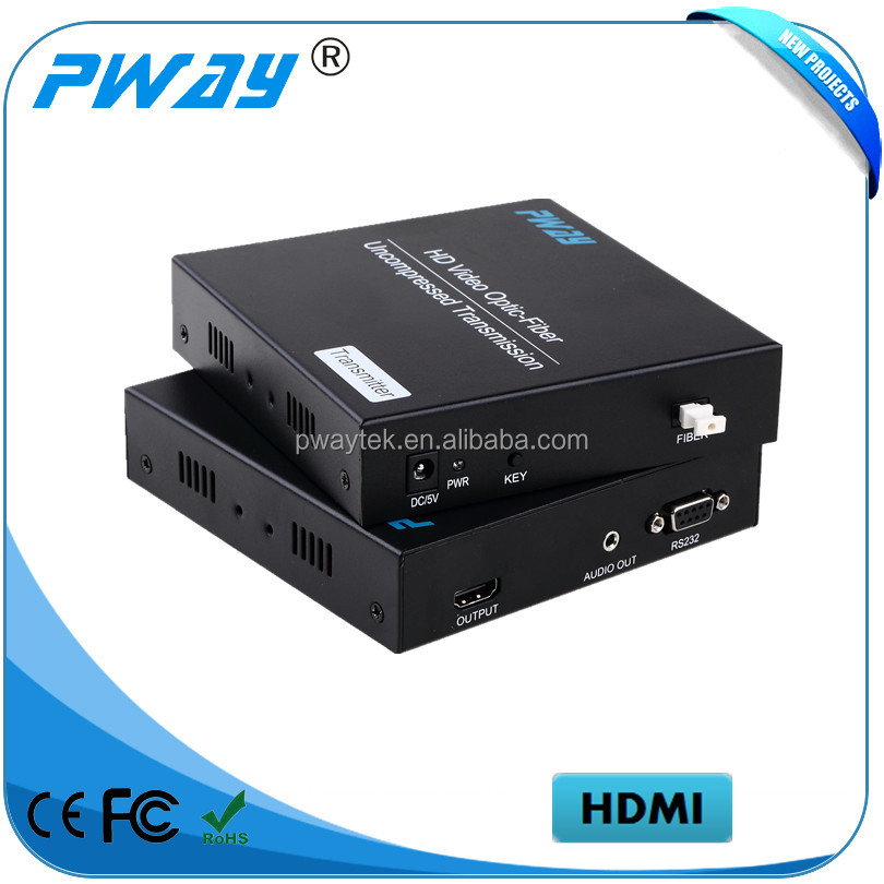 China supplier 1080p video fiber optic transmitter receiver support EDID and ESD protection system