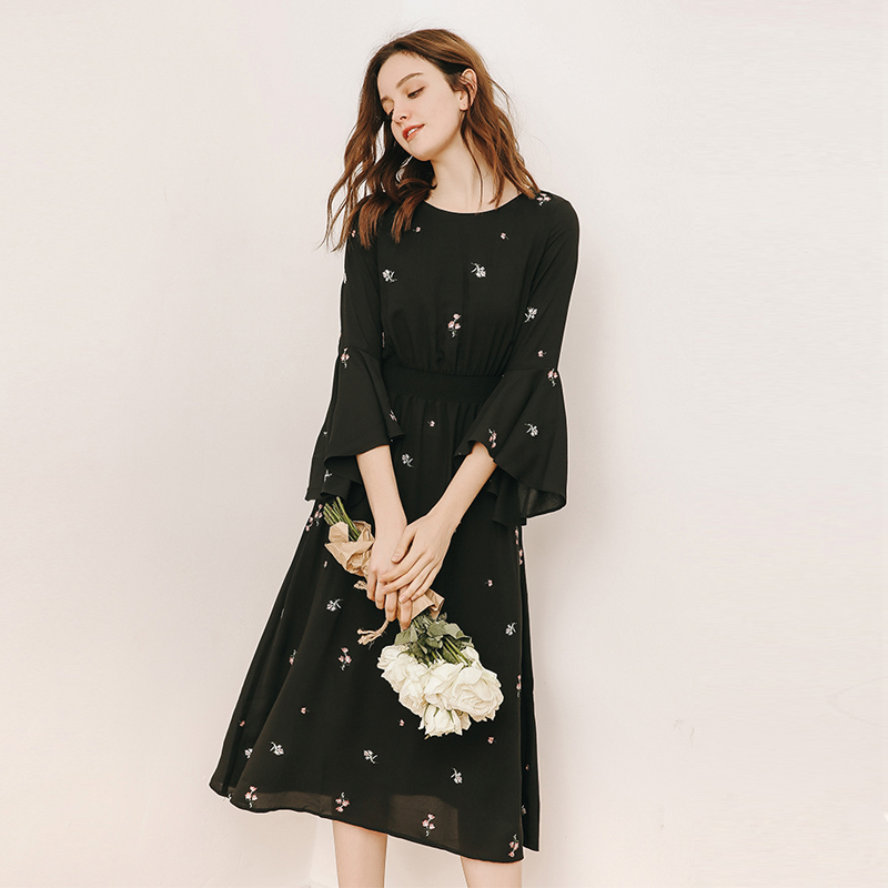 Women Fashion Floral Embroidery dress
