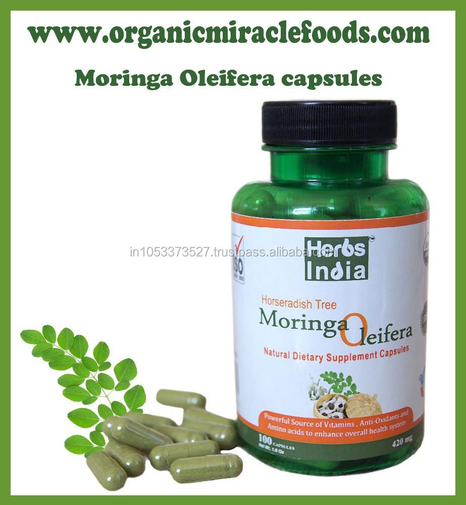 Premium Moringa Leaf Powder Capsules