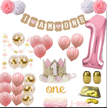 Beautiful GIRL Colors For Little First Birthday Decorations1st Boy Decorations Kit