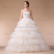 7A2997 couches princesse robe de bal sans manches classique robe de mariée  en turquie