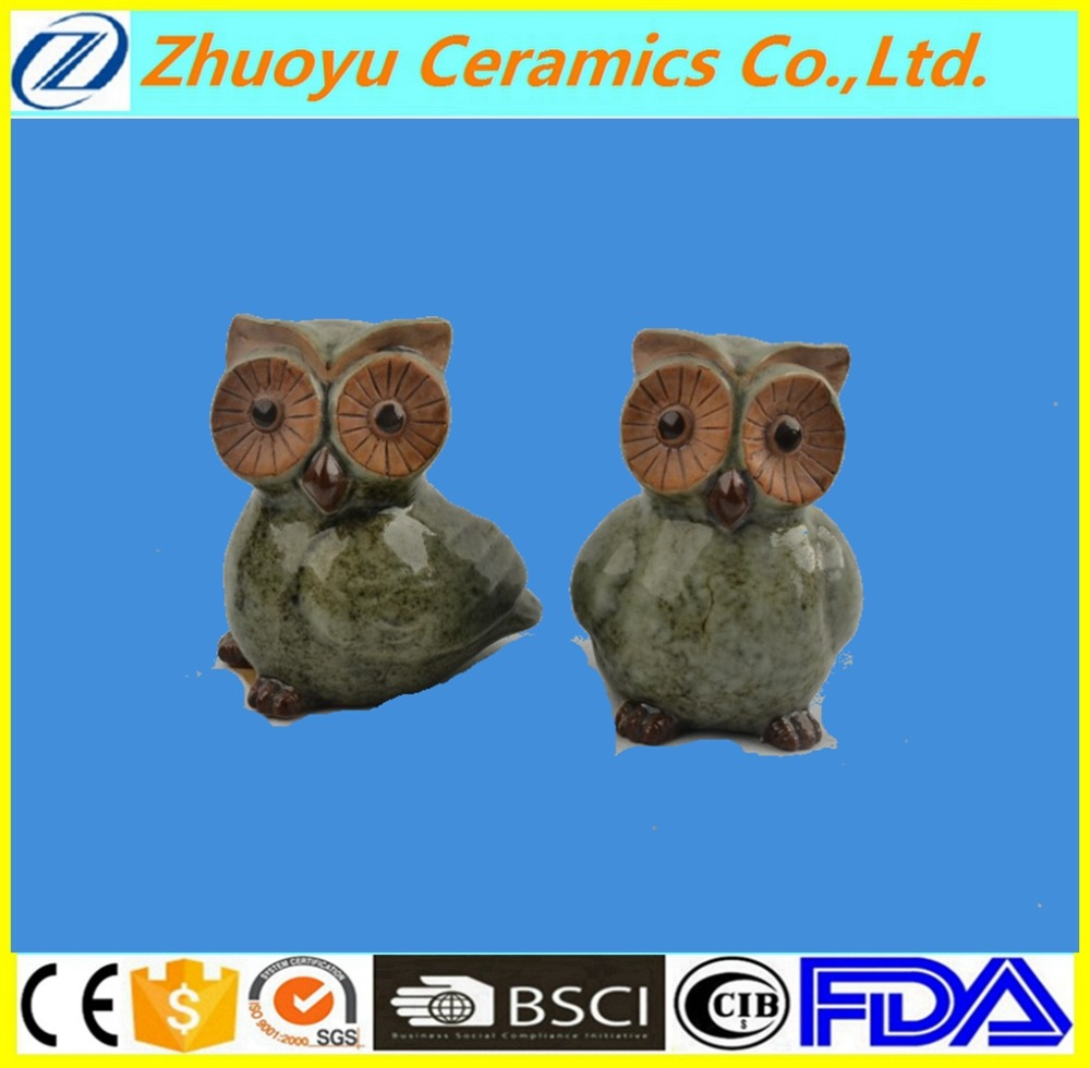 Little cute ceramic owls animal figures for sale