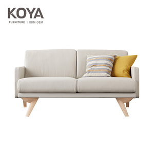 Livingroom furniture European style Luxury modern streamlined white leather Sofa