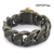 Best Seller Fashion Stainless Steel With Leather Bracelet b004330