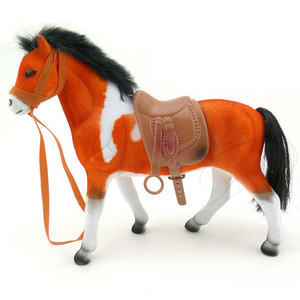 Play animal figure flocked horse toy