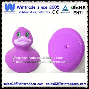 Violet color duck adult bathing time fun toy