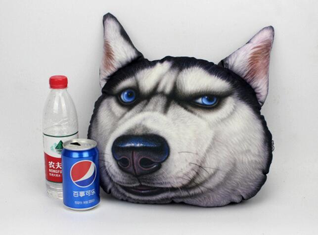 Hot koop grappige pluche d printing dieren kat hond hoofd