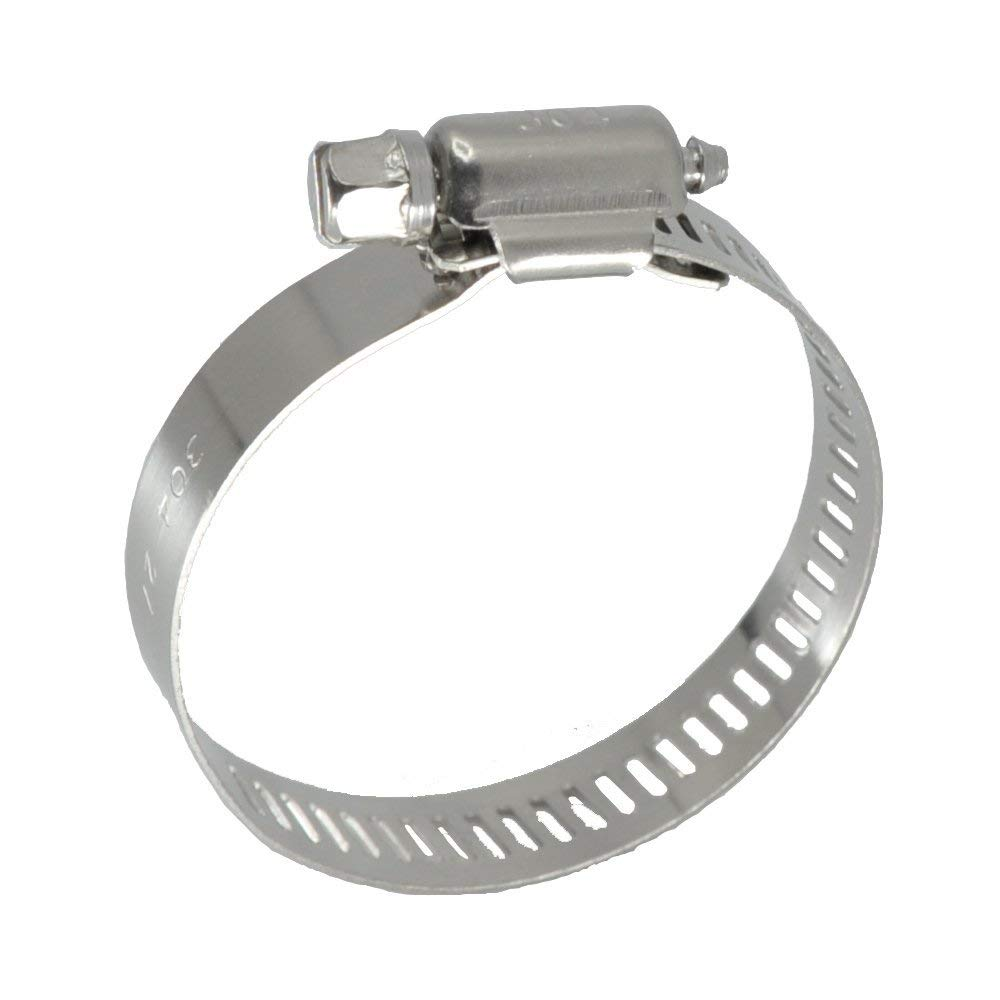 """XRPAOWA Hose Clamp, 5 pcs/Pack, SAE Size 72 Worm Gear Hose Clamps Power Seal, 304 Stainless Steel Clamps,1/2"""" Band Size, 4-1/8"""" -5"""" (105-127mm) (SAE 72)"""