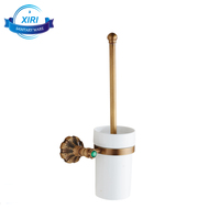 Antique brass toilet brush holders European style bathroom accessories for toilet brush XR0317