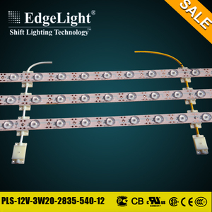 Edgelight High lumen good price aluminum led lattice backlight strip with CE UL RoHS