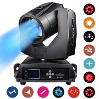 Professional LED Stage Lighting Moving Head 500W AC100~240V Spot Beam Lights Touch Screen Lens DJ Strobe Effects Projection