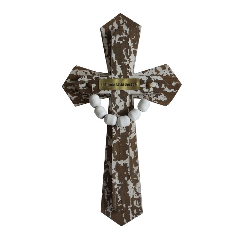 Decoration Customized Wholesale Carved Large Religious Wood Cross Designs