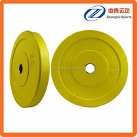 economically priced 1 inch yellow free weight plates set