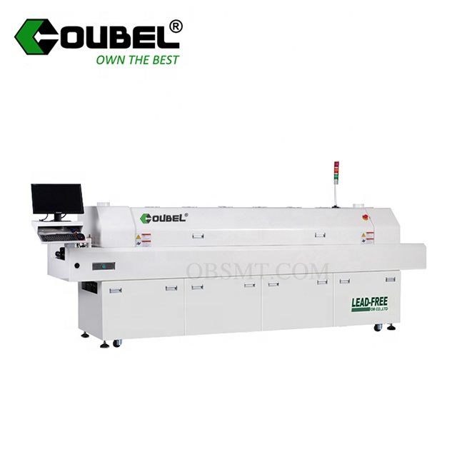 China Reflow Oven SMT Loodvrij Hot Air PCB chips lasmachine met hoge kwaliteit