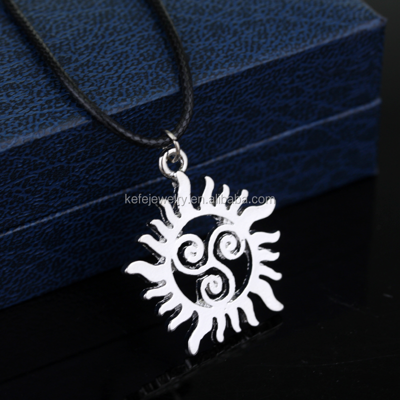 Supernatural Triskell Star Teen Wolf Symbols Pendant Necklace For