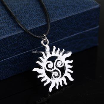Supernatural Triskell Star Teen Wolf Symbols Pendant Necklace For