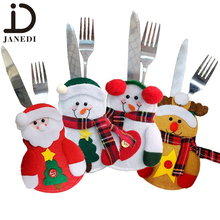 Promotional christmas decorations ,christmas snow type knives and forks bag,tableware bag