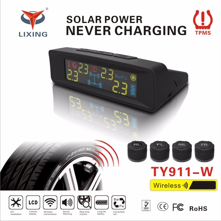 Tire Pressure Monitoring System with cigaretter plug for car Tire Guage Tool 2016 Eagle TP800 LCD TPMS