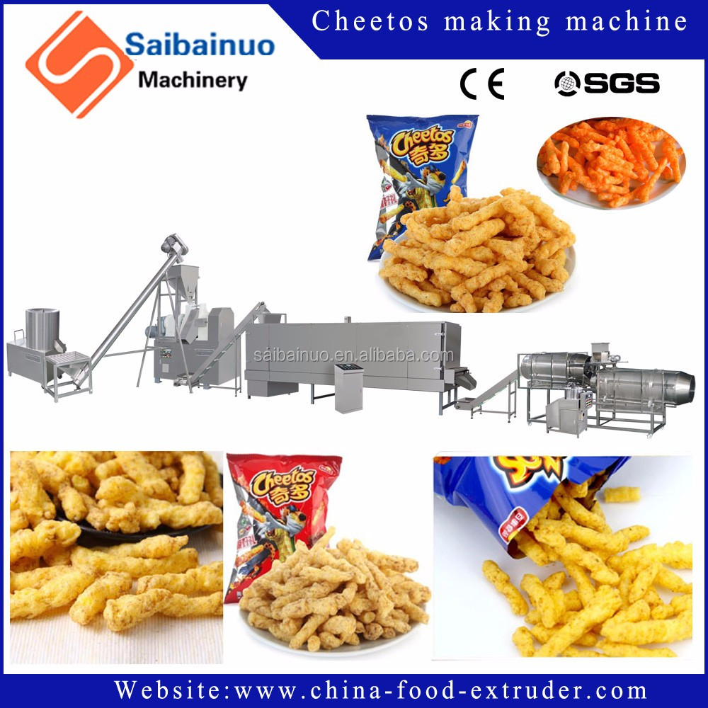 kurkure single screw extruder /kurkure snack extruding machine