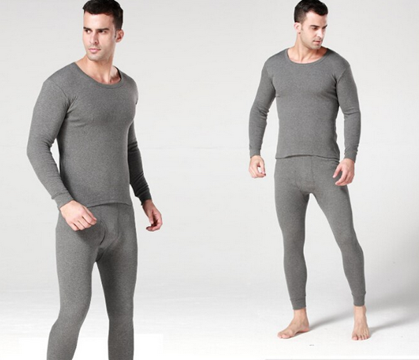 dbd7c5805aa3 Hot Winter Mens Warm Thermal Underwear Mens Long Johns Sexy Black Thermal  Underwear Sets Thick Plus