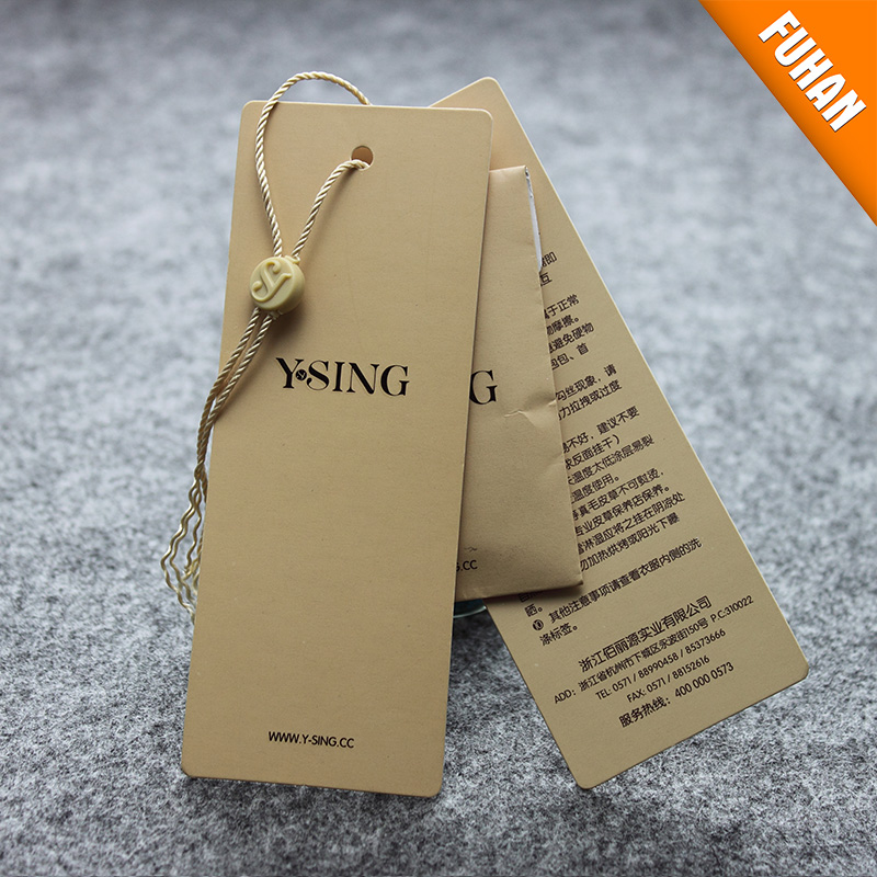 Custom Fancy Recycled Jeans Paper Hang Tags