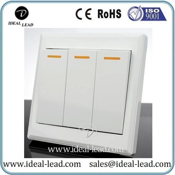 3 switch single control wall power switch socket