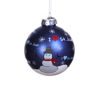 Christmas Ball Ornaments with Delicate Painted Snowman,Christmas Decoration