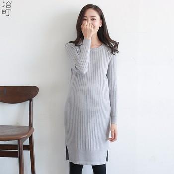 5a48dcfa6 De punto de algodón las mujeres embarazadas vestidos para la lactancia  materna bebé