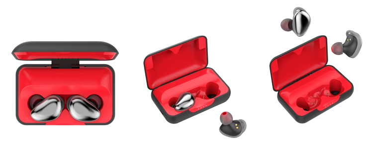 Factory Manufacture Wireless Headphone Sport Earbuds With Charging Case