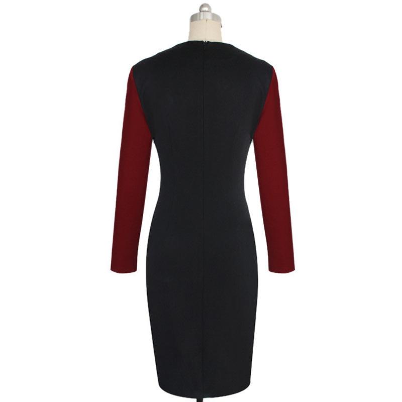 37cdd8c45e 2016 Nuevo Diseño Mujeres Midi Lápiz Oficina Vestido Niñas Sin ...